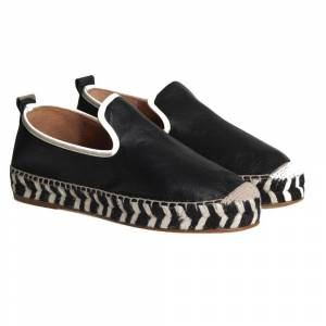 By Malene Birger Leather Espadrilles Black