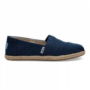 TOMS Washed Canvas Women's Espadrilles Blå