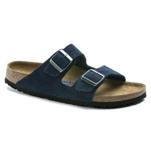 Birkenstock Arizona Suede Leather Soft Footbed Slim Blå