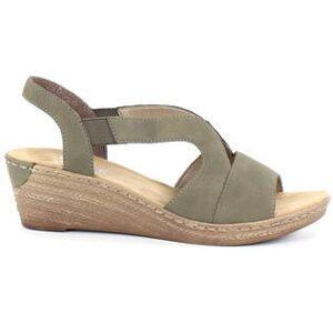 Rieker Kilklackade sandaler 62429-54 grön