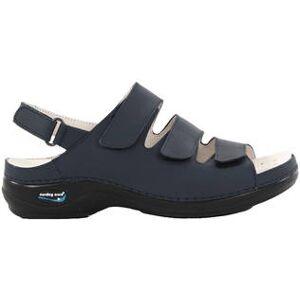 Nursing Care Maskintvättbara Sandaler i läder mörkblå