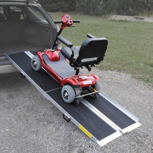 Blimo aluminiumsrampe for trehjulede køretøjer