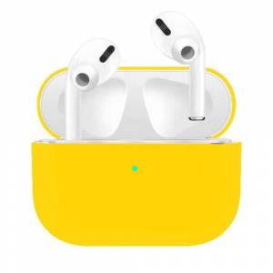 MOBILCOVERS.DK Apple Airpods Pro Charging Case Ultra Tyndt Silikone Cover - Gul
