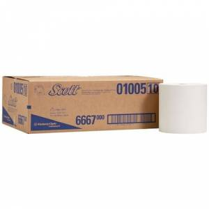 Scott Airflex-papiraftørringsservietter, 1-lags, 200 mm, hvid