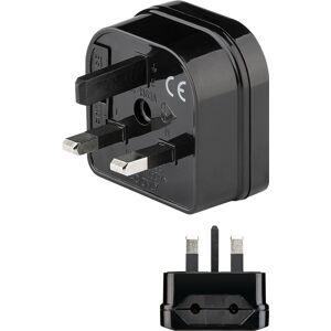 Goobay Rejsestik DK 2-ben hunstik (Type C CEE 7/16)  UK 3-pin hanstik (Type G, BS 1...