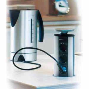 Cassøe PowerPort eltårn - 2 x DK-stik + 2 x USB