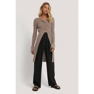 NA-KD Trend Deep Pleat Suit Pants - Black
