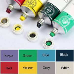 ART Professional Tube Oil Paints Art For Artists Canvas Pigment Art Painting Supplies Non-toxic Oil Paint Drawing 50ML 8 Colors