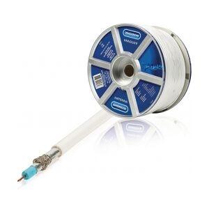 Bandridge Tale Kabel på Snelle 4G/LTE-Bevis Rund 7 mm 100 m Hvit, LC round cable