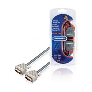 Bandridge DVI-Kabel DVI-D 24+1p Han - DVI-D 24+1p Han 2.00 m Bl dvikabel pinners