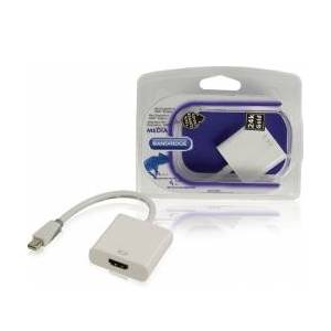 Bandridge Mini Displayport -Kabel Mini DisplayPort Han - HDMI Hun 0 display hvit