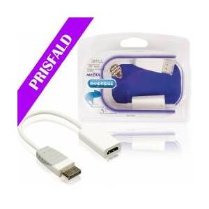 Bandridge Displayport -Kabel DisplayPort Han - HDMI Plugg 0.20 m Hv display hvit