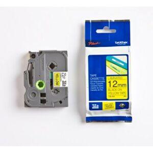 Brother 12 mm tape, svart tekst på gul, laminert, 8 m TZE631 Tilsvarer: N/A