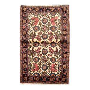 Håndknyttet. Opphav: Persia / Iran Orientalsk Nahavand Figur/Bilde Teppe 97X155 Lysbrun/Mørk Blå (Ull, Persia/Iran)