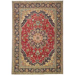 RugVista 245X355 Persisk Teppe Håndknyttet Orientalsk Ull Mørk Rød/Svart