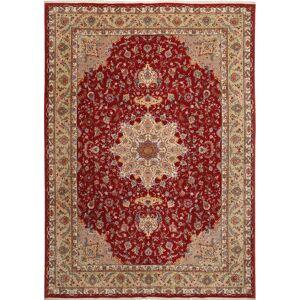 RugVista 255X360 Persisk Teppe Håndknyttet Orientalsk Ull/Silke Mørk Rød/Lysbrun Stort