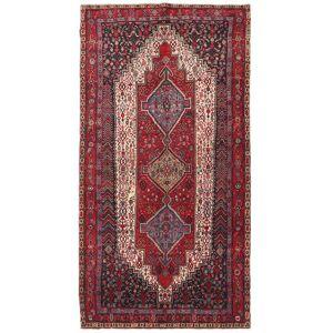 Håndknyttet. Opphav: Persia / Iran 139X270 Orientalsk Kurdi Teppe Mørk Rød/Rød (Ull, Persia/Iran)