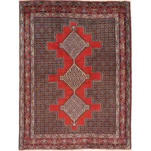 RugVista 127X171 Persisk Teppe Håndknyttet Orientalsk Ull Mørk Rød/Lysbrun