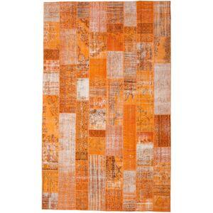 RugVista Patchwork Teppe 305X498 Ekte Moderne Håndknyttet Orange/Lysbrun Stort (Ull, Tyrkia)