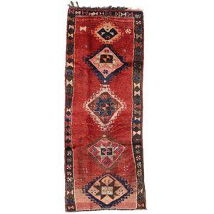 RugVista Teppeløpere 153X390 Håndknyttet Orientalsk Vintage Ull Mørk Rød/Mørk Brun/Rust