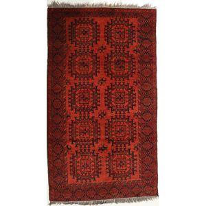 RugVista 116X203 Afghan Khal Mohammadi Teppe Ekte Orientalsk Håndknyttet Mørk Rød/Rust (Ull, Afghanistan)