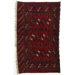 RugVista 104X175 Afghan Khal Mohammadi Teppe Ekte Orientalsk Håndknyttet Mørk Brun/Mørk Rød (Ull, Afghanistan)