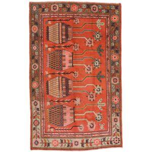 Håndknyttet. Opphav: China Håndknyttet Teppe Samarkand Vintage 173X280 Orange/Lysbrun (Ull, Kina)