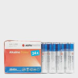 AGFA New AgfaPhoto Alkaline Power AA Batteries 24 Pack Blue One Size