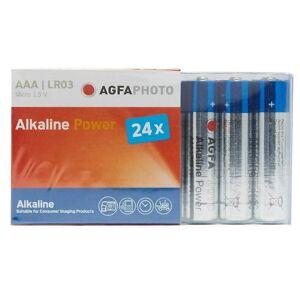 AGFA Ny AgfaPhoto alkalisk strøm AAA LR03 batterier 24 Pack blå One...