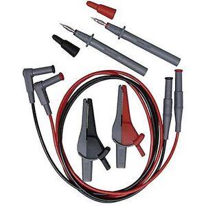 Beha Amprobe EU-200 sikkerhet test føre et [Test sonde, Alligator klipp, 4 mm plugg - 4 mm plugg] svart, rød