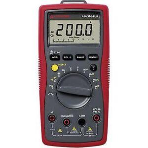 Beha Amprobe AM-520-EUR håndholdt multimeter Digital CAT II 1000 V, CAT III 600 V skjerm (teller): 4000