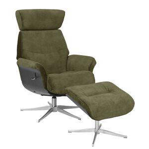 Marvik Hvilestol med skammel - grøn m. metall ben