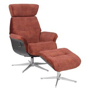 Marvik Hvilestol med skammel - rust m. metall ben