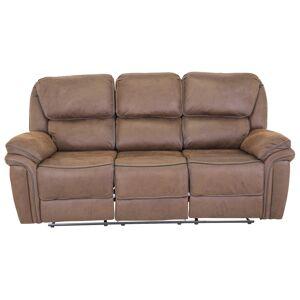 Saranda 3-seter sofa - Mocha Læder-look