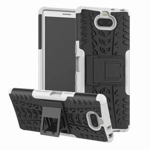 Sony Xperia 10 Håndverks Bakdeksel m. Stativ - Hvit