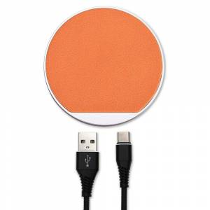 4Smarts Select Wireless Qi Charger 10W - Orange / Brown
