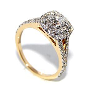 Forlovelsesring i gult gull med diamanter 1.00ct tw.si