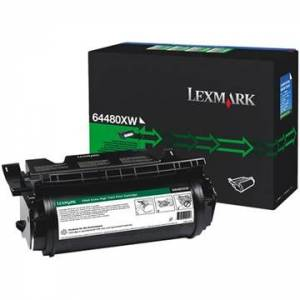 Lexmark T 644 Toner 64480XW - Svart