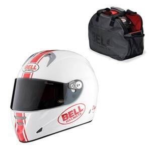 Bell Motorsykkelhjelm M5X Daytona, white/red, xlarge (61-62)