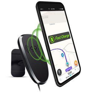 Naztech MagBuddy Anywhere Plus Magnetisk Mobilholder til Bilen m. Trådløs Oplader 10W Fast Charge