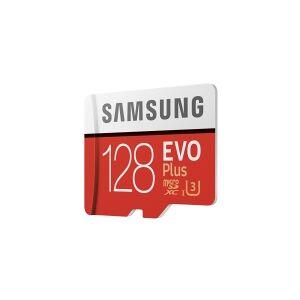 Samsung EVO Plus MB-MC128HA - Flashhukommelseskort (microSDXC til SD adapter inkluderet) - 128 GB - UHS-I U3 / Class10 - microSDXC UHS-I