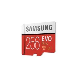Samsung EVO Plus MB-MC256HA - Flashhukommelseskort (microSDXC til SD adapter inkluderet) - 256 GB - UHS-I U3 / Class10 - microSDXC UHS-I