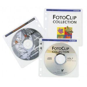 CD-ROM Sleeve Med Pärmhål 80st