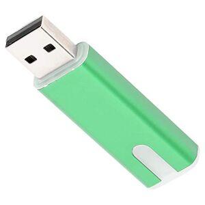 Chanmeeog8xvnb4z1-02 U-minnesstick, mini minnessticka, andningslampa USB 2.0 flashminne grön kontor hem för dator surfplatta (16 GB)