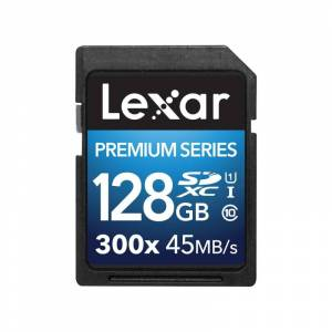 Lexar Platinum II 300x SDXC UHS-I 128GB Svart