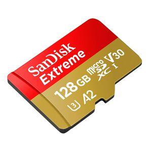 SanDisk MicroSDXC Extreme 128GB Adapter 160MB/s A2 C10 V30