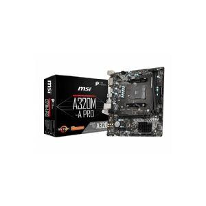 MSI A320M-A PRO, AMD, AM4, AMD Athlon,AMD Ryzen, DDR4-SDRAM, DIMM, 1866,2133,2400,2667,2933,3200 MHz