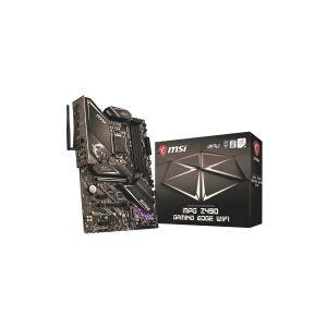 MSI MPG Z490 GAMING EDGE WIFI - Hovedkort - ATX - LGA1200-sokkel - Z490 - USB-C Gen1, USB 3.2 Gen 1, USB 3.2 Gen 2, USB-C Gen 2x2 - 2.5 Gigabit LAN, Wi-Fi, Bluetooth - innbygd grafikk (CPU kreves) - HD-lyd (8-kanalers)