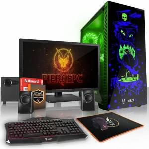Fierce PC Hård KALKONTUPP Gaming PC, snabb Intel Core i7 7700 4.2 GHz, 1 TB S...
