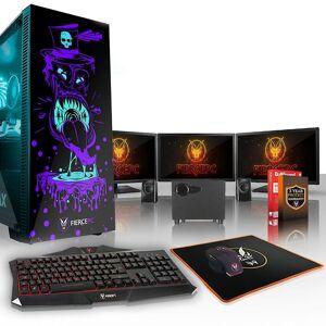 Fierce PC Hård KALKONTUPP Gaming PC, snabb Intel Core i5 7400 3,5 G...